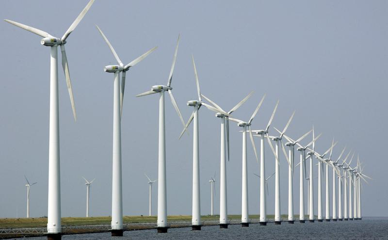 Development of wind turbines like those pictured here in the Netherlands are up for debate in the U.S.