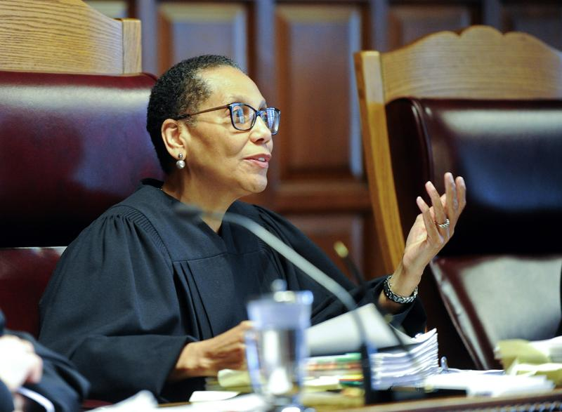 Sheila Abdus-Salaam, Associate Judge of the Court of Appeals, listens to oral arguments on at the Court of Appeals on Wednesday, June 1, 2016.