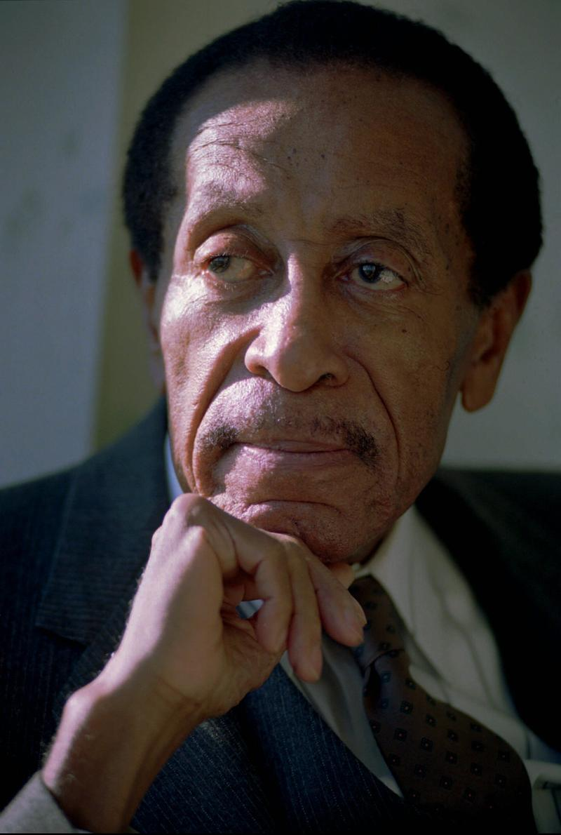 Robert McFerrin Sr., the first black man to sing with New York's Metropolitan Opera, poses for a portrait in Cambridge, Massachusetts on December 2, 1995.