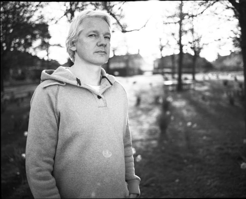 WikiLeaks founder Julian Assange in the film, 'Asylum.'