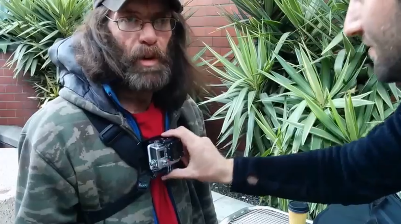 Adam Reichart, a volunteer with the Homeless GoPro project.