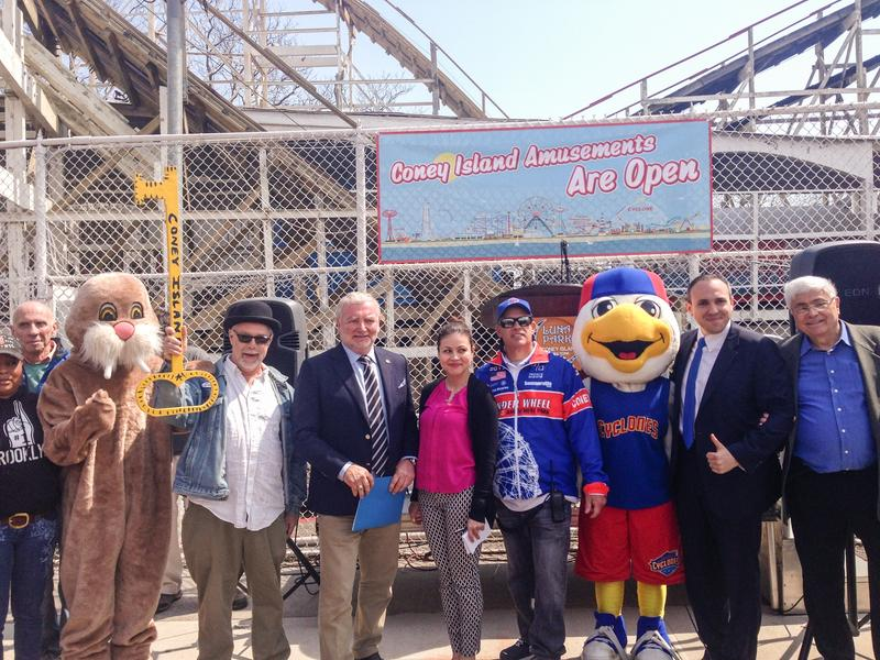 Coney Island Officially Opens. Janet Babin/WNYC