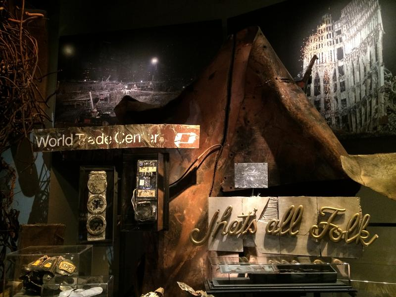 Artifacts from the original Twin Towers at the 9/11 Museum.