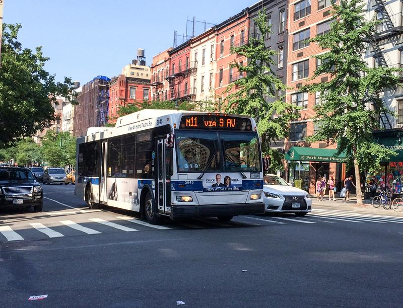 An M11 NYC MTA bus