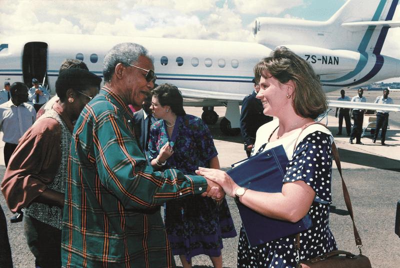 Nelson Mandela and Zelda la Grange