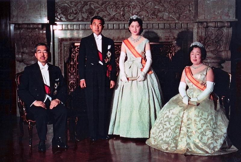 Crown Prince Akihito on his wedding day, April 10, 1959.