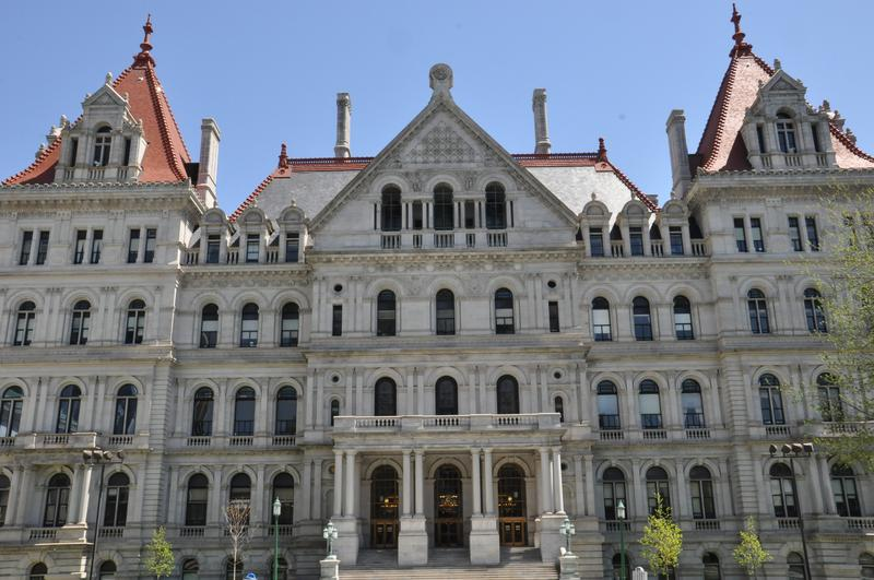 Pictured: The New York State Capitol in Albany.