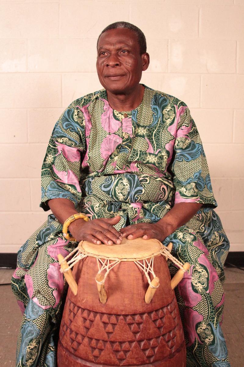 Ghanese drummer Gideon Foli Alorwoyie