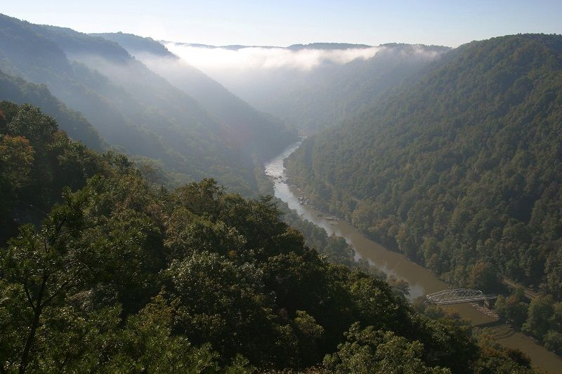 West Virginia, Fayetteville, New River Gorge National River, Appalachian And Allegheny Mountains.
