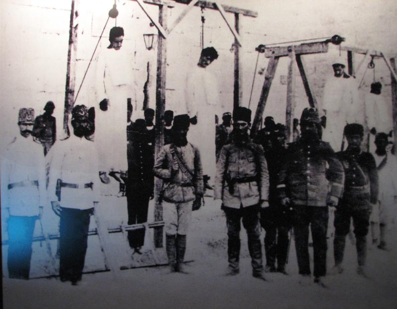 Armenian doctors hanged in Aleppo Square, 1916