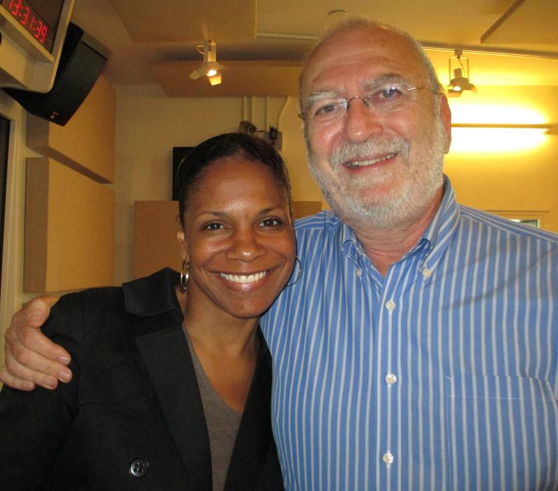 Audra McDonald and Leonard in the WNYC studios
