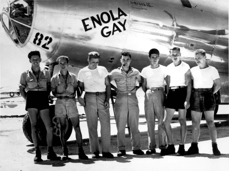 Enola Gay and crew members.