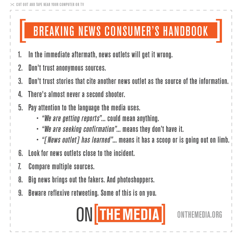 Breaking News Consumer's Handbook, Active Shooter Edition