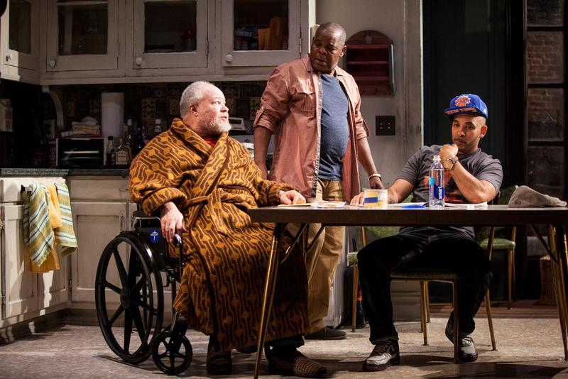 "Stephen McKinley Henderson, Ray Anthony Thomas, and Victor Almanzar in ""Between Riverside and Crazy,"" written by Stephen Adly Guirgis, directed by Austin Pendleton, at the Atlantic Theater Company."
