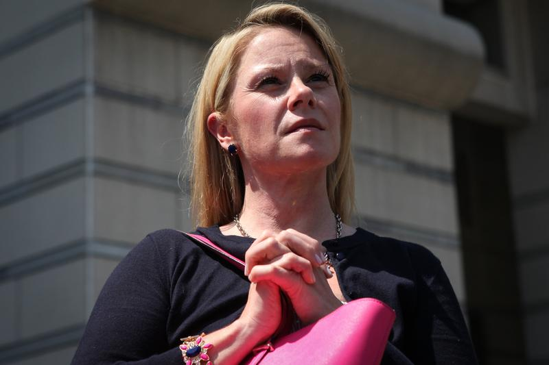 Former Deputy Chief of Staff to Governor Chris Christie Bridget Anne Kelly appearing in Newark Federal Court for her arraignment on charges related to the George Washington Bridge closures.