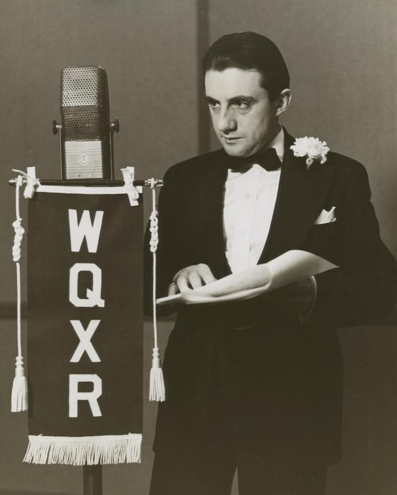 Conductor John Barbirolli at WQXR in the early 1940s