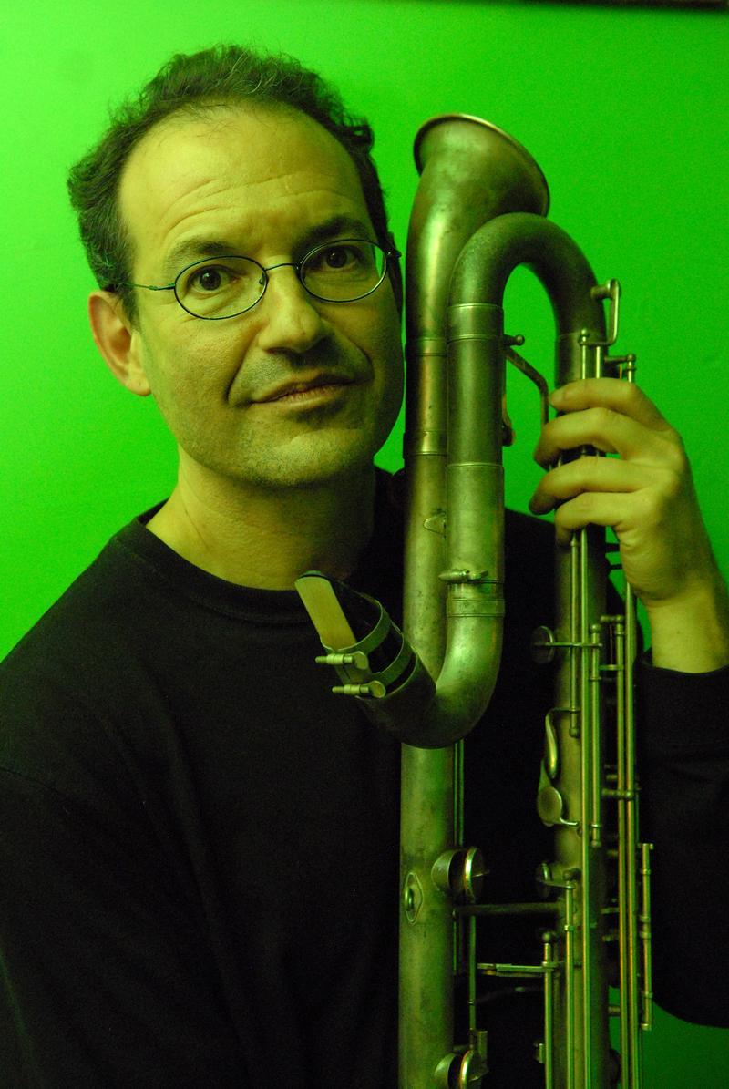 Ben Goldberg with contra alto clarinet