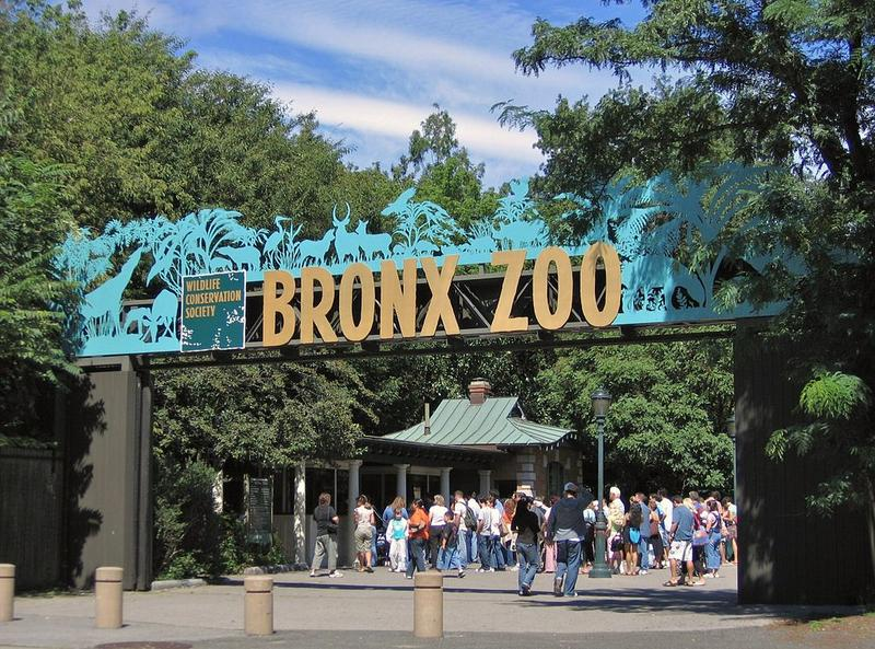 Entrance gate to the Bronx Zoo, New York City.