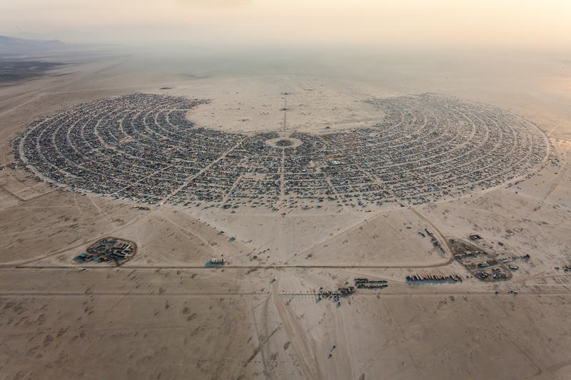 This is what Burning Man normally looks like, without a rainstorm.