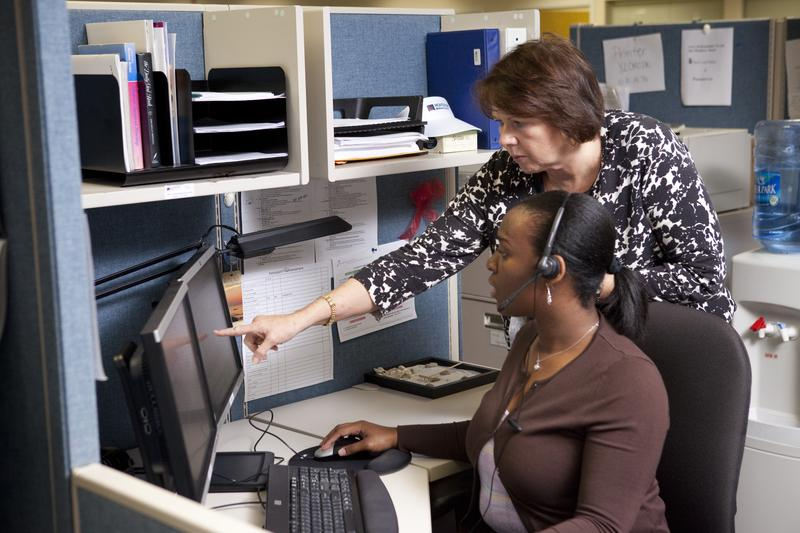 Sheila Felleman, Director of Chronic Care at Montefiore Medical Center, works with Jeanelle Ernest-Hill at the hospital's care management organization.
