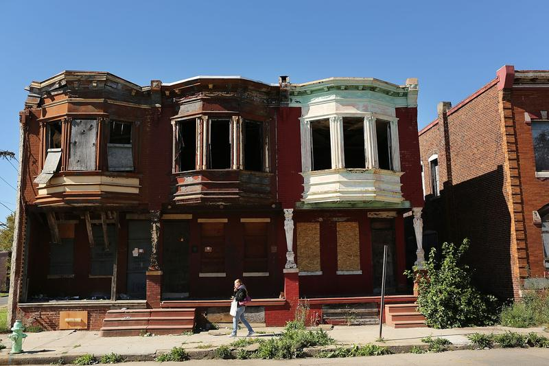 Empty homes in Camden, New Jersey, October 11, 2012. According to the U.S. Census Bureau, Camden is the most impoverished city in the U.S. with nearly 32,000 of residents living below the poverty line