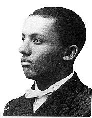 Portrait of African-American historian Carter Godwin Woodson as a young man. Woodson was the founder of Negro History Week.