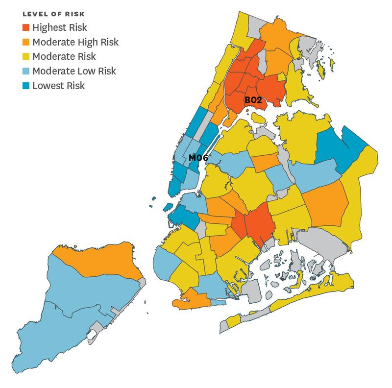 """Hunts Point is the """"highest risk community,"""" according to the group Citizens' Committee for Children of New York."""