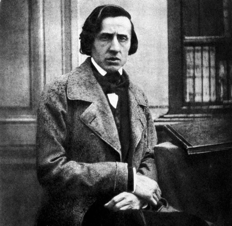 The only known photograph of Frédéric Chopin, taken in 1849.