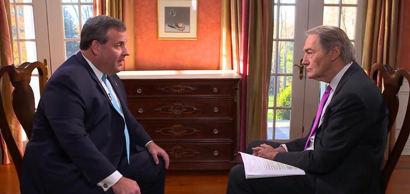 New Jersey Gov. Chris Christie in an interview with Charlie Rose on CBS This Morning.
