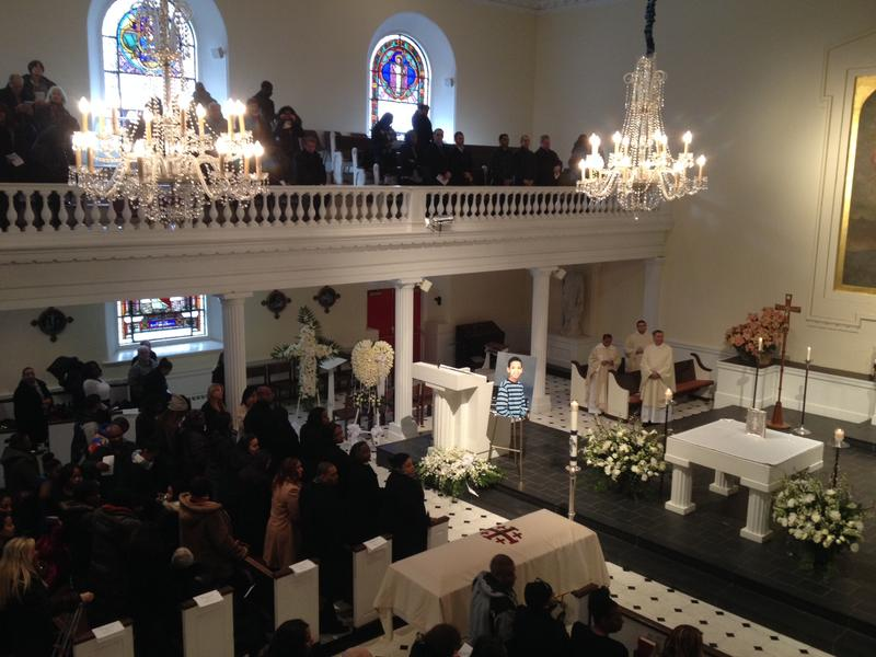 Mourners at the funeral mass for Avonte Oquendo