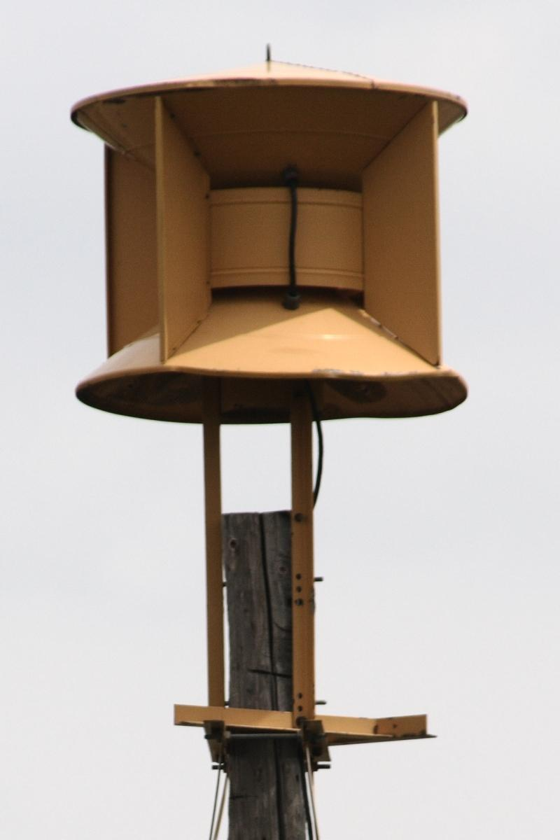 Civil defense siren.