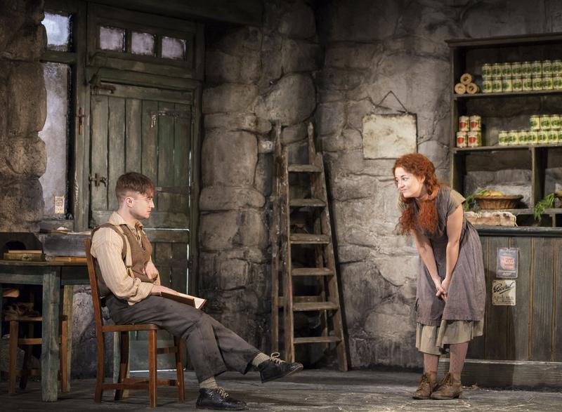 Daniel Radcliffe and Sarah Green in 'The Cripple of Inishmaan' at the Cort Theatre.