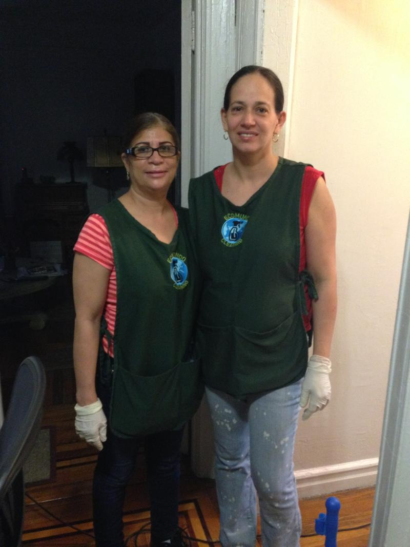 Maria Cruz and Rosa Peralto, worker-members of EcoMundo