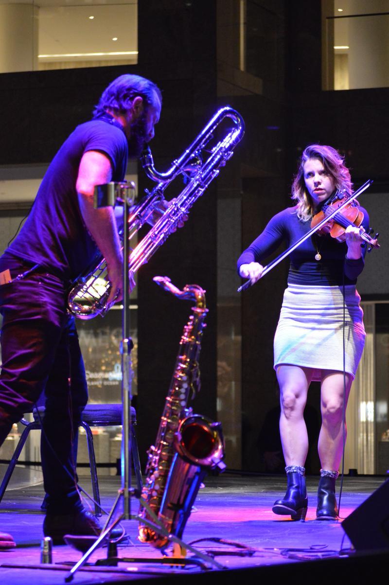 Colin Stetson, saxophone and Sarah Neufeld, violin