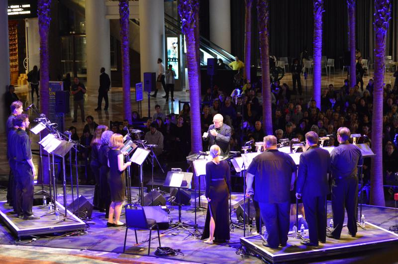 "The Crossing, led by Donald Nally, perform ""Song of the Human"" by Pete M. Wyer, live at Brookfield Place, 10/12/2016"