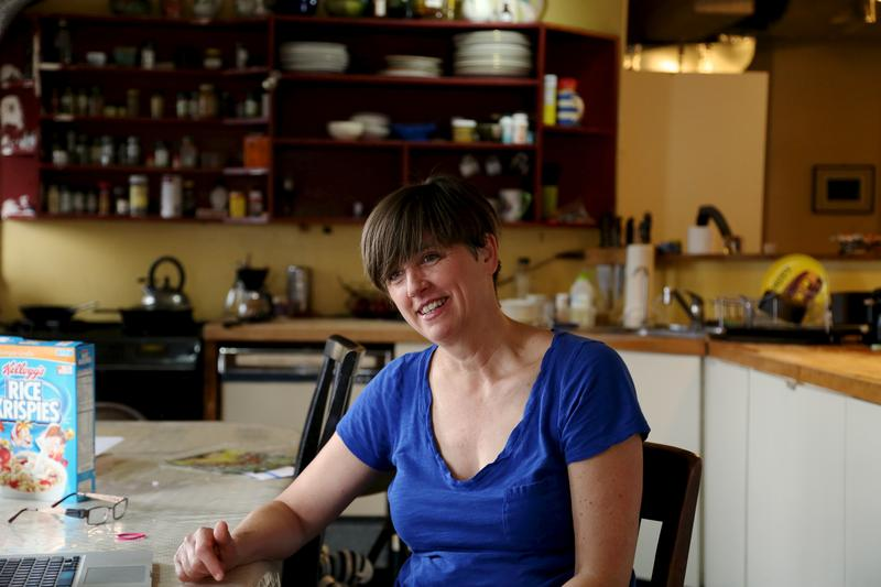 Lucy Sexton, in the Manhattan loft she shares with her family.