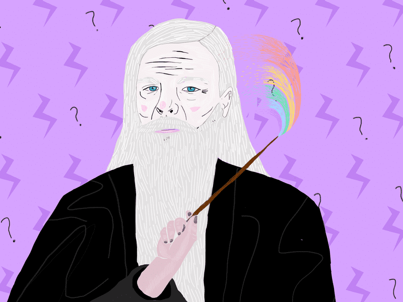 Albus Dumbledore is the allegedly gay headmaster of Hogwarts School of Witchcraft and Wizardry.