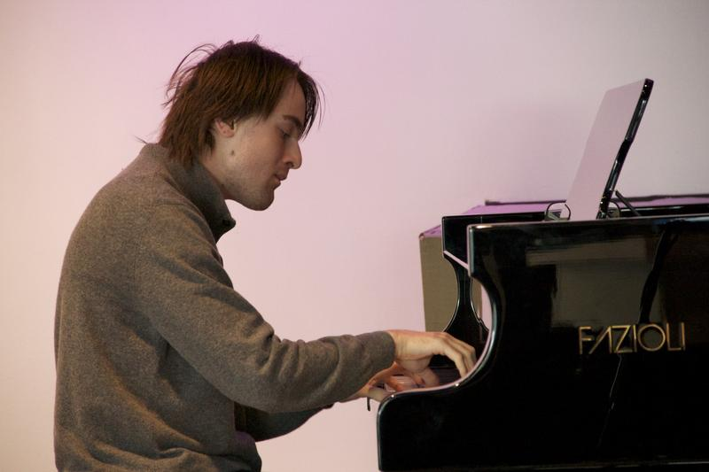 Pianist Daniil Trifonov warms up in the Greene Space.