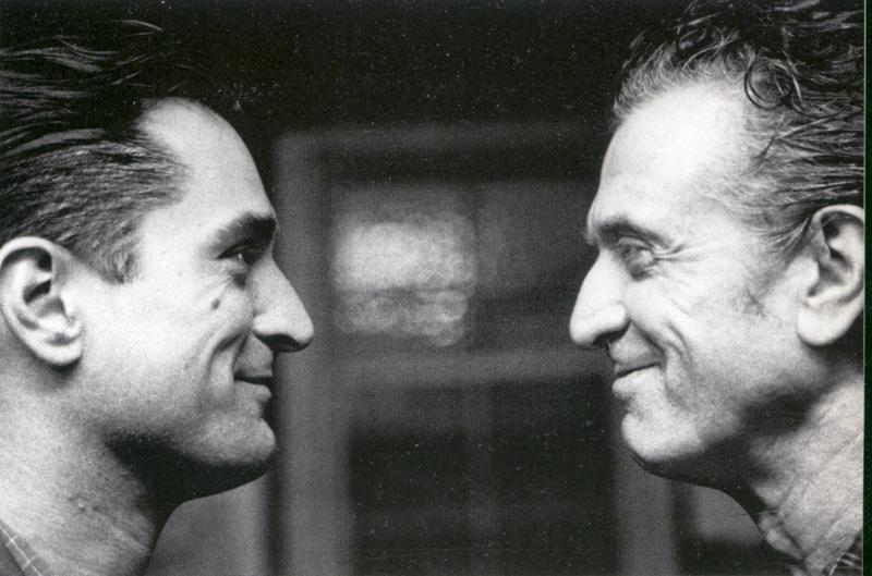 Actor Robert De Niro and his father Robert De Niro, Sr.