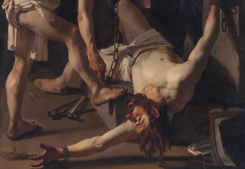 Prometheus chained by Vulcan