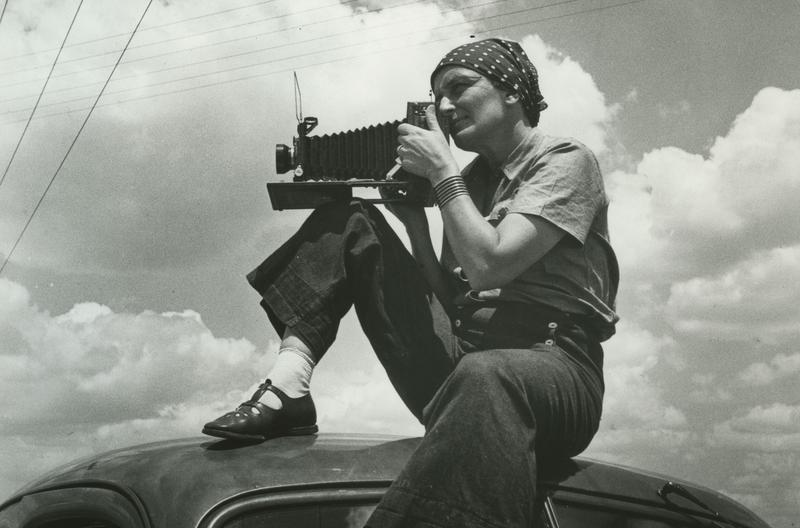 "Dorothea Lange, 1937, as seen in ""American Masters – Dorothea Lange: Grab a Hunk of Lightning."""