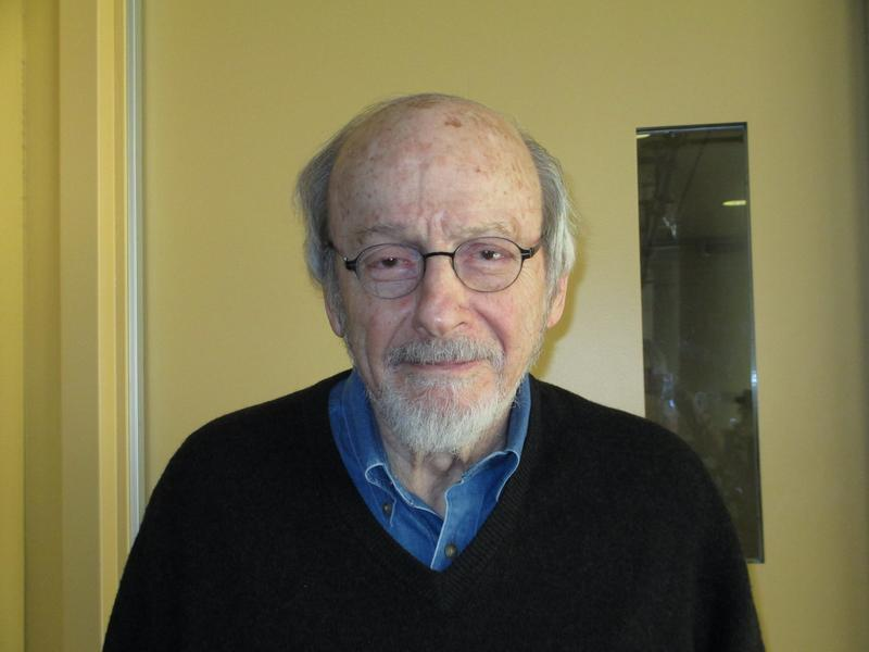 Writer E. L. Doctorow in the WNYC studios