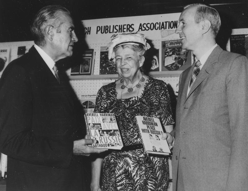 Averell Harriman (left) with Eleanor Roosevelt and an unidentified man in New York City, 1960.