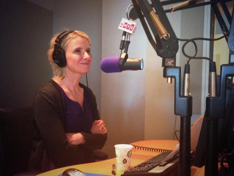 Author Elizabeth Gilbert in the WNYC Studios talking to Brian Lehrer