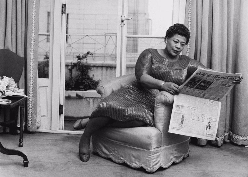 Ella with Newspaper