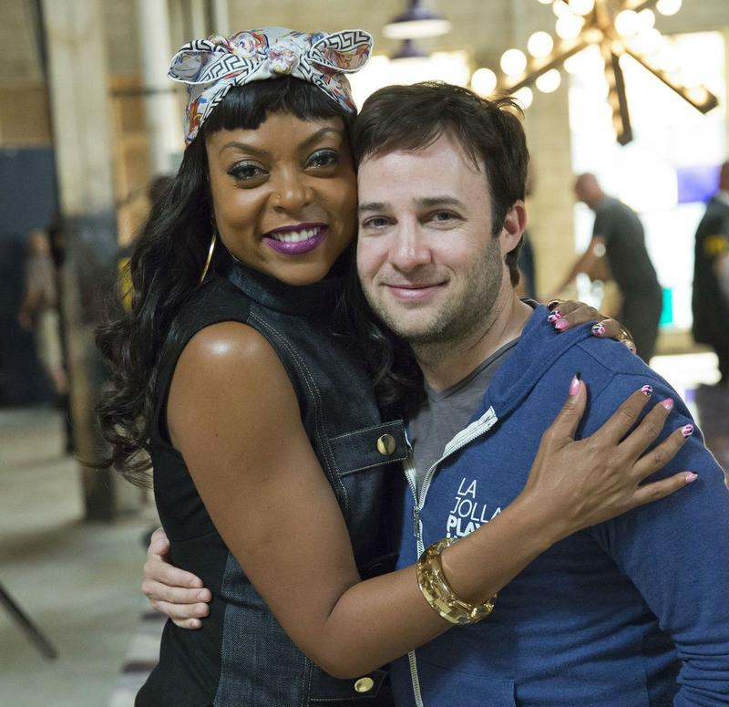 (L to R) Actress Taraji P. Henson on set with Empire creator Danny Strong