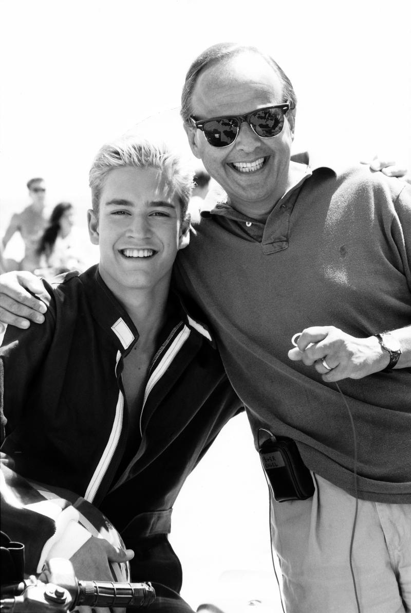 'Saved By the Bell' executive producer Peter Engel, right, with Mark-Paul Gosselaar, who played Zack Morris on the show.