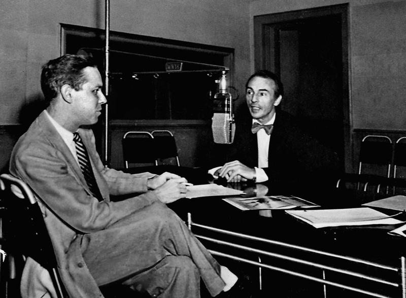 Francis Mason interviews George Balinchine in the WNYC studio in 1949.