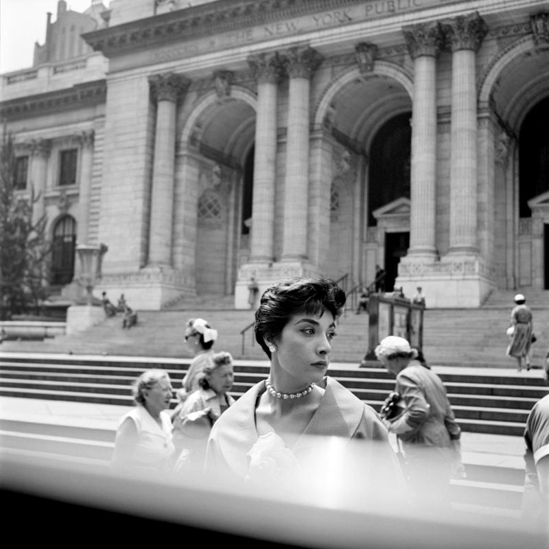 "Woman at the NY Public Library still from John Maloof and Charlie Siskel's ""Finding Vivian Maier."""