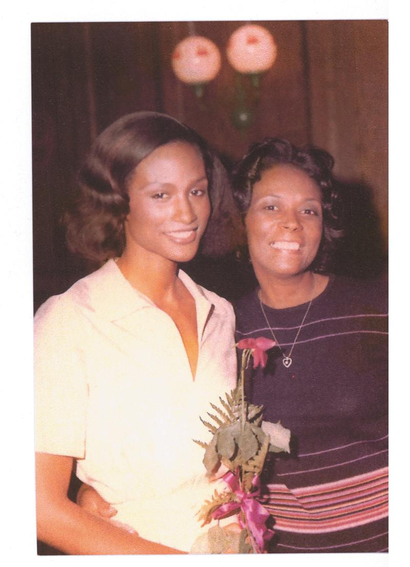 """""""Eighteen years old and on my way in the modeling world, with my proud mom.""""- Beverly Johnson"""